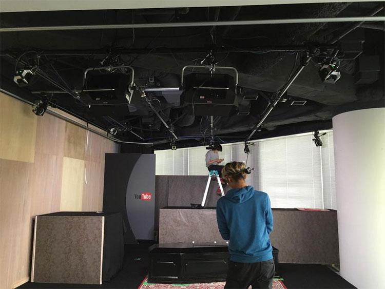 YouTubeSpaceのスタジオ