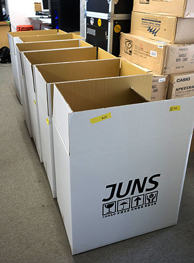 JUNS×島村楽器、第一便が出荷!